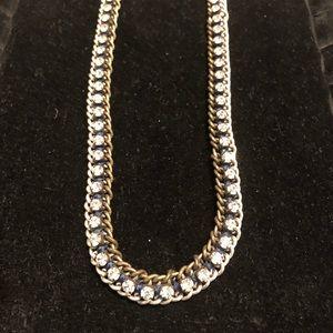 Stella & Dot rhinestone necklace & layering chains